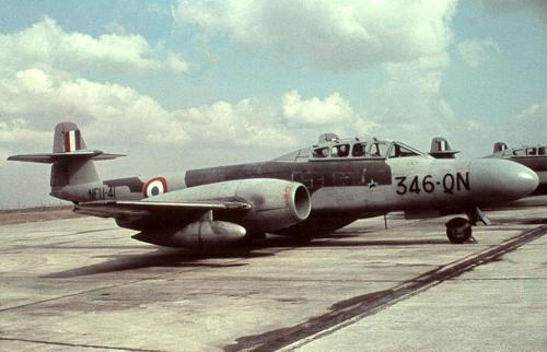 Gloster Meteors - Britain's First Jet Fighter…Image #3: A French NF.11 Nightfighter in service with the Armee de L'Air