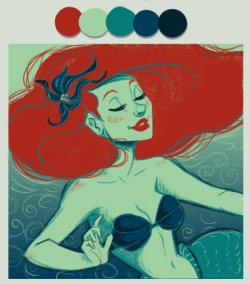 definite-disnerd:  Ariel Color Scheme Meme, by That MadGray.