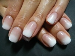 Ombre french manicure. Gorgeous!