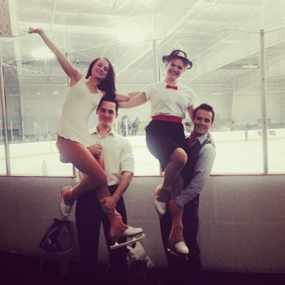 Check us out! We're so legit :)  #figureskating @adrienepetrillo @williamott