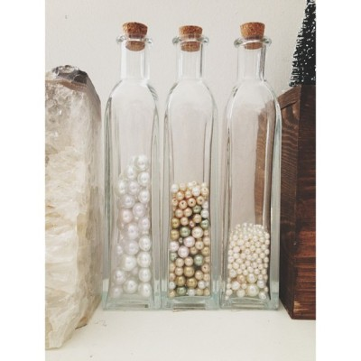 Three's a party. #pearls #diy cc @michaelsstores