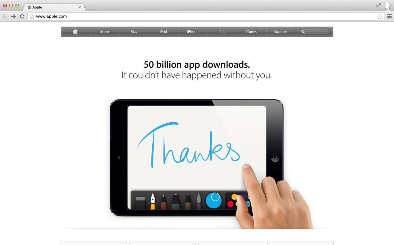 Paper is featured on the Apple homepage today! madewithpaper:  Thanks Made With Paper by Apple