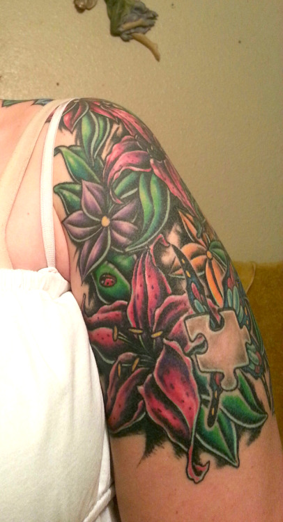 My lilies done by Ross Dockter CherrieDragon