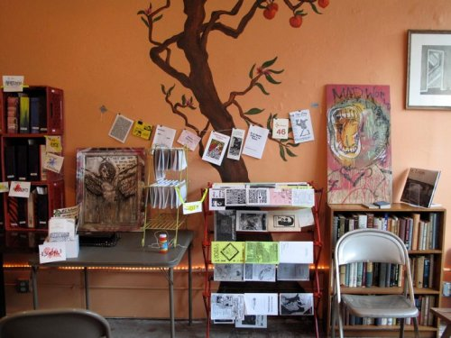 fanzines:  The beautiful Samizdat Zine Library in Saint Louis, Missouri, U.S.
