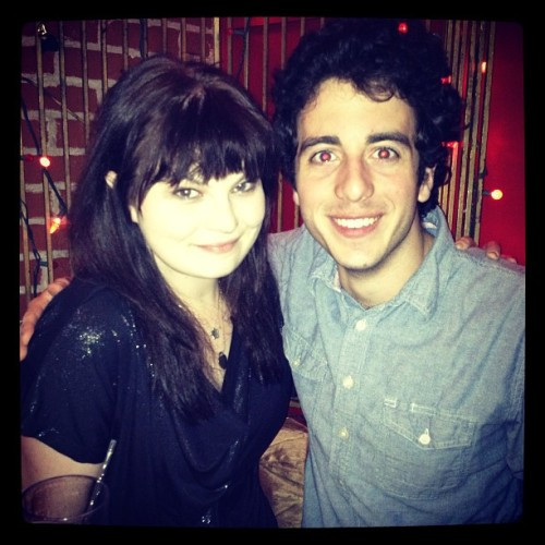 kyliesparks27:  happy birthday to my buddy, @scootrpoot! #squaresville #austinrogers #yaaaay  Happy Birthday Austin!