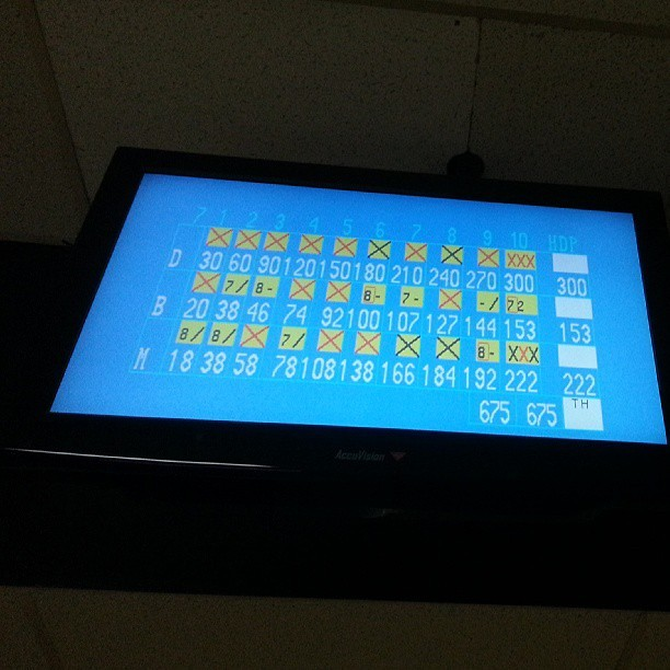 Derrick's first no tap 300! (at Castro Village Bowl)