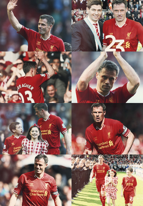 Jamie Carragher, Liverpool legend. We'll miss you Carra. Get your coaching badges already so we can win the Champions League again