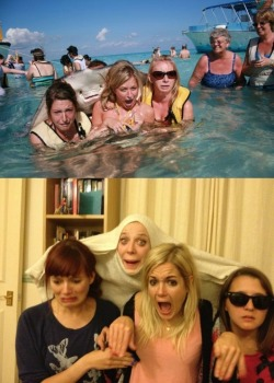 Photobomb re-enactment