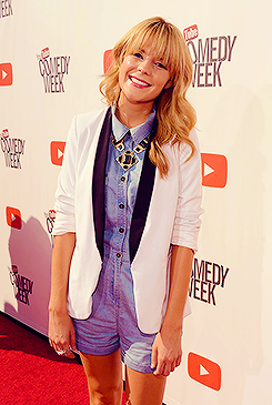 "Grace Helbig at ""The Big Live Comedy Show"" presented by YouTube Comedy Week held at Culver Studios in Culver City, California"