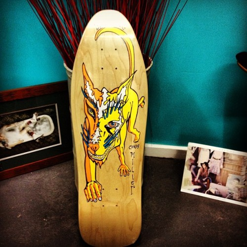Another board to my personal collection! #kurbskate #chrismillerministreet #goliath #gippsland #oldschool #schmitstix