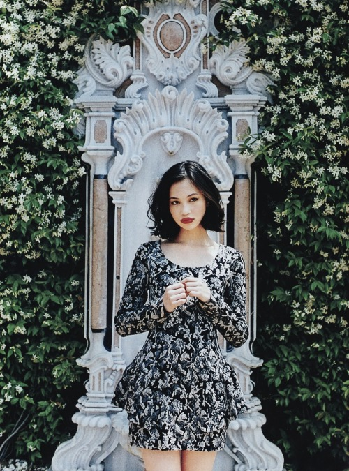 floatingforever:  'beautiful and fresh' snidel s/s collection, kiko mizuhara for sweet magazine, september 2012