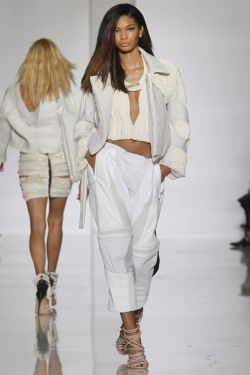 lovelostfashionfound:  Chanel Iman - Kanye West SS 2012