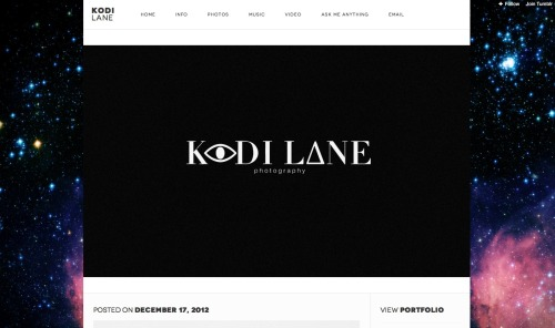 Please reblog if you can, friends & fans alike! Dear, talented Kodi Lane didn't do anything wrong and he's being targeted only due his enormous talent and beautiful spirit!  God Bless, Kodi. Keep your head high and no matter what, know that we have your back, as does Jesus. xoxo kodilane:  Message to all Followers; If you are just coming to my site, I regret to inform you that Bryant Eslava filed a DMCA takedown notice with tumblr today, claiming to own the custom html theme I was using. Bryant later announced on Facebook his claims.  Including bragging about his text to David Karp to remove my theme. Bryant, later began openly criticizing my work and professionalism, along with tagging, inviting and messaging several of my followers, suggesting they remove me as a friend. I filed a counter notice to his Bogus Claims with Tumblr Support; Stating all content is in fair use as the creative commons listed on the pages of Nivo Slider and Font Squirrel the original developers of the plugins that he is claiming to own.  I am awaiting Tumblr Support to now restore my theme after filing the notice, however I feel this may be a fixed game as Bryant is regularly featured and sponsored on Tumblr along with other staff. Sorry to all of my followers whom Bryant messaged or tagged asking you to unfollow me or remove me as a friend. I also regret to inform you, that during the progress of this situation I am not going to be changing or updating my theme. If my my theme is not restored I will mostly likely just delete my account and take my leave from tumblr. If you would like to stay updated please like my page on facebook or instagram. For my portfolio work please visit http://www.kodilane.com/portfolio You are welcome to message Bryant, or Tumblr Support and tell then how you feel. Please Reblog this so we can share Bryants true colors with the rest of the tumblr community. Thank you for continuing to support my creations, and I wish you an enjoyable new year. Best, Kodi Lane | kodilane.com
