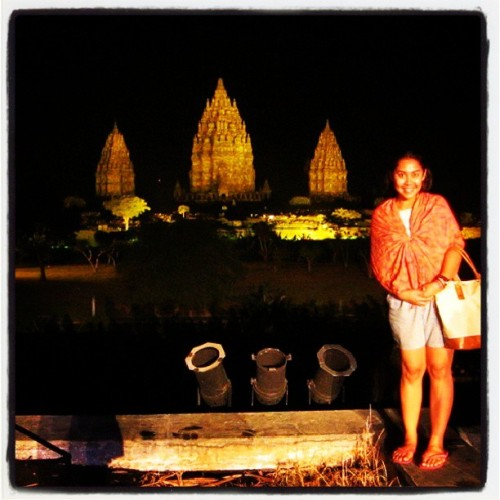 The #Magical #Prambanan #Temple #nightshot #me #asian #girl #Indonesia #holiday #vacation #instagood