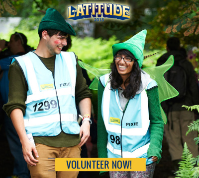 VOLUNTEER AT LATITUDE! Be a part of creating Latitude's unique atmosphere AND get a free ticket in return - click here for more details and to apply!
