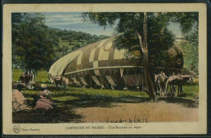 A Camouflaged Blimp.