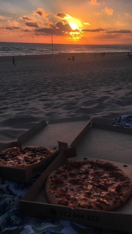 pordosol praia pizza