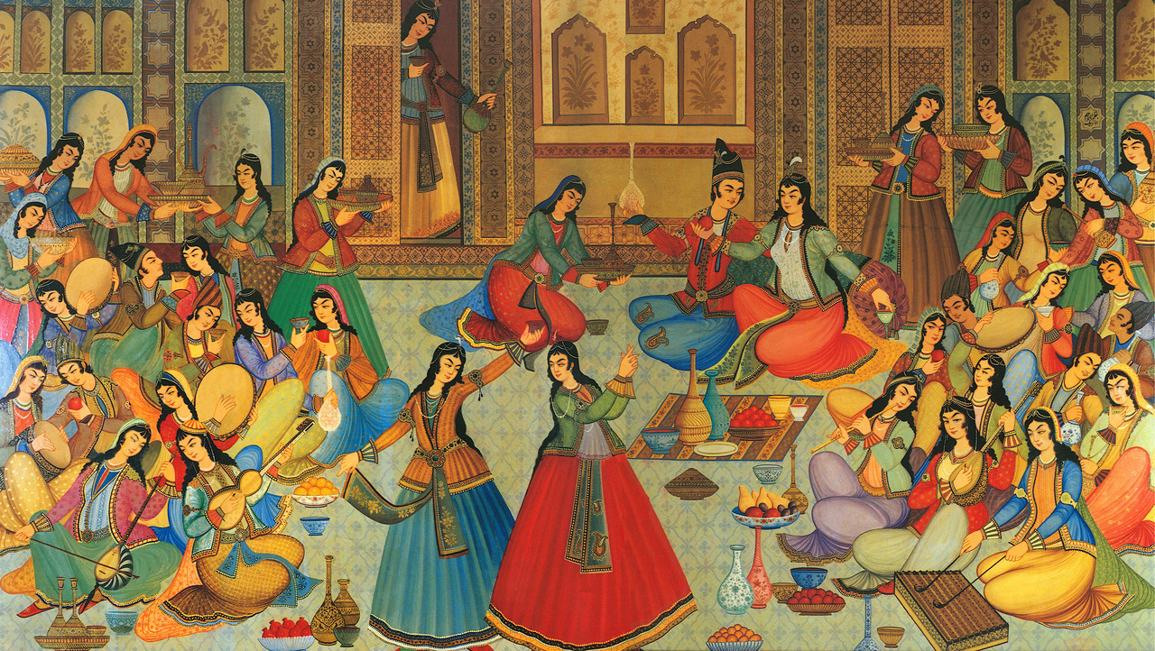 Ibrahim Jabbar-Beik. A banquet of song and dance. Nd.