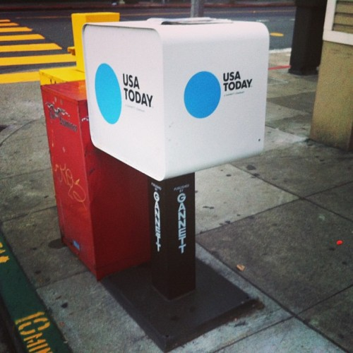 Spotted! #newusatoday box in real life on California & Divis @lisasmithnyc @____mads @objectgroup