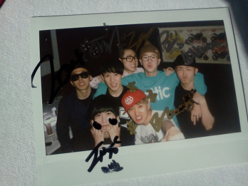 "kpop-polaroids:  amidst all this Block B drama lets remember when Kyung tweeted this with the caption ""one"""