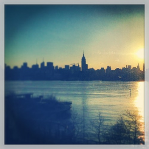 Not the worst #view to wake up to #sunrise #nyc (at W Hoboken)