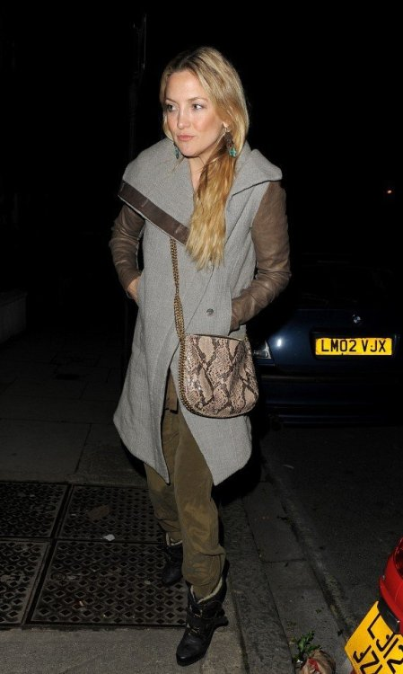 SPOTLIGHT.  Kate Hudson in London wearing the AW12 Willowed Felt Coat.