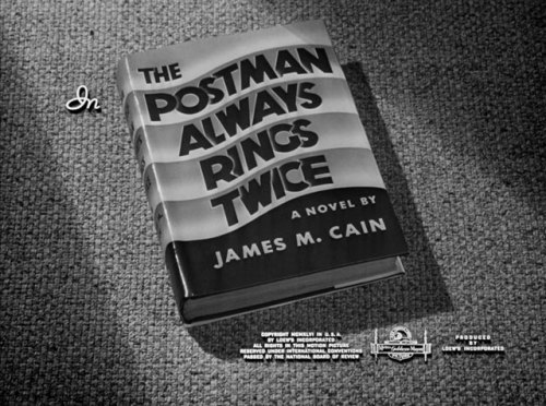 (via The Postman Always Rings Twice (1946) movie typography)