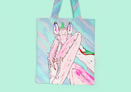 Orchid Mantis tote. Get your own custom animal tote here.