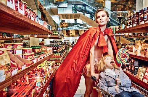 oscarprgirl:  you should always go to the grocery store like this. from Numero Russia.