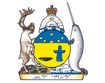 """Established in 1999, Nunavut (""Our Land"" in Inuktitut) is Canada's newest territory. The Canadian Heraldic Authority and Inuit artist Andrew Qappik, developed this Coat of arms in close collaboration with the elders and leaders of Nunavut. The result is a remarkable fusion of Inuit symbolism and European heraldic tradition."""