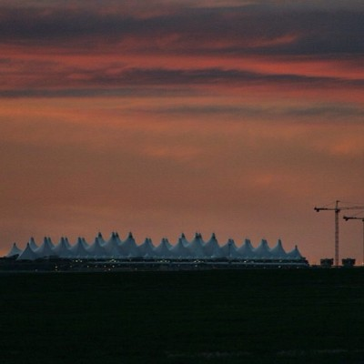 #DIA at #sunrise today. #denver