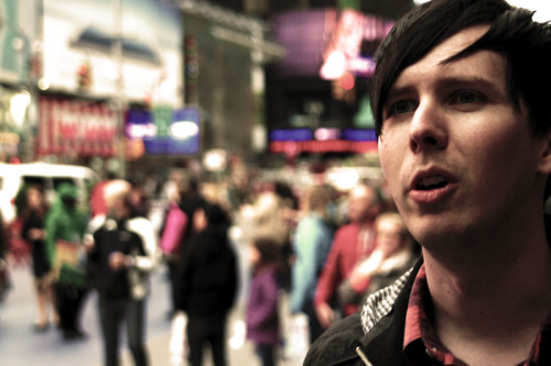 darkenglow:  Phil in Times Square.