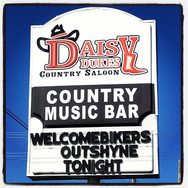 Outshyne at Daisy Dukes Tonight 9pm!!!! #outshyne #bikeweek #myrtlebeach #daisydukes #country #saloon (at Daisy Dukes)