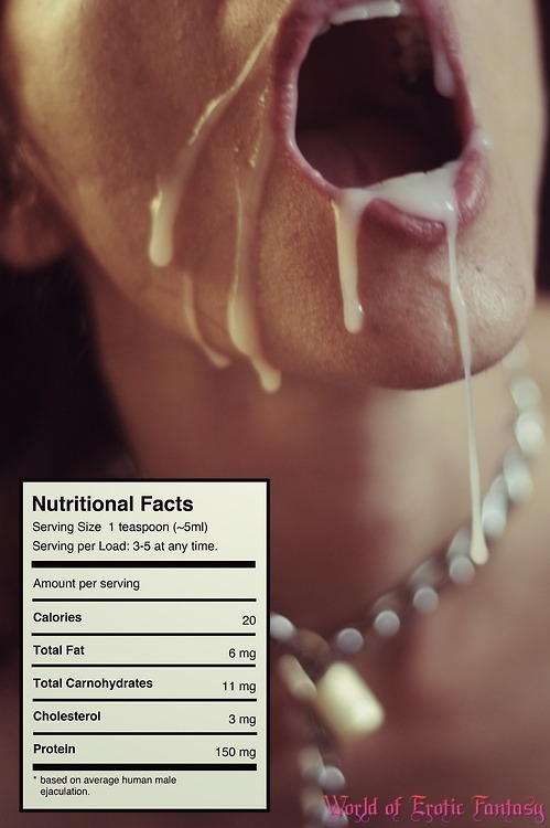 world-of-erotic-fantasy:  World of Erotic Fantasy Nutritional Facts !