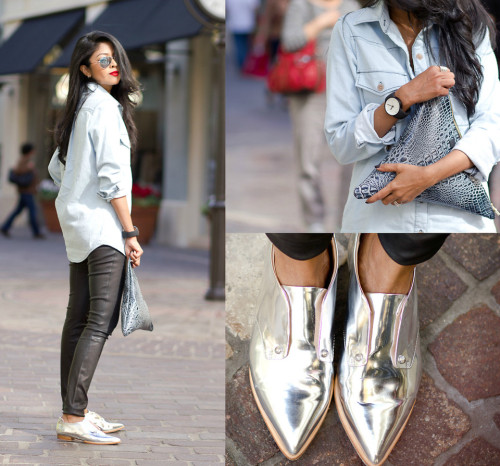 lookbookdotnu:  CHROME OXFORDS (by Sheryl L)