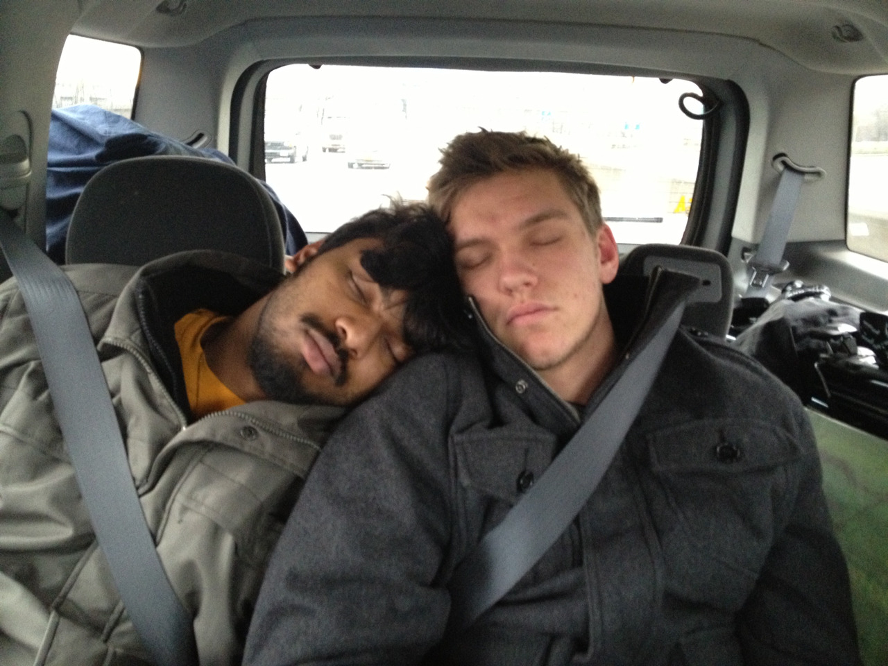 When we're not singing on tour, we're usually sleeping in cars #wintour2013 #JW