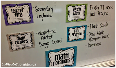 Math Rotations Work to do on whiteboard