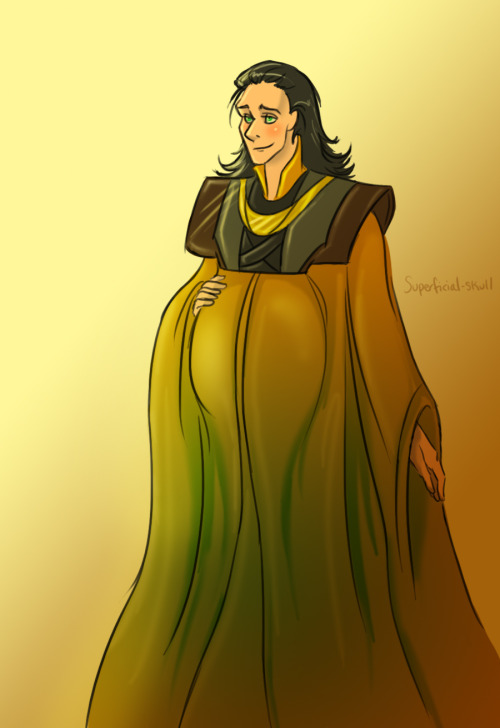 nanihoo:  superficial-skull:  happy pregnant ball loki <3 click for better view  oh this makes me so happy ahhhh  ahahaha. mindfuck!