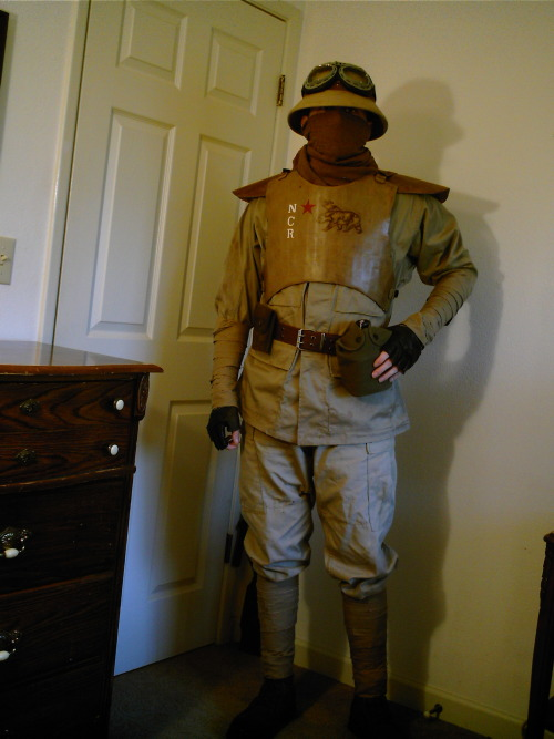 nordic-nerd:  I never found a picture of my NCR cosplay from SacAnime, so I figured I'd just post this one that I took myself at home so people could see it. Still could be better but I'm happy with it.