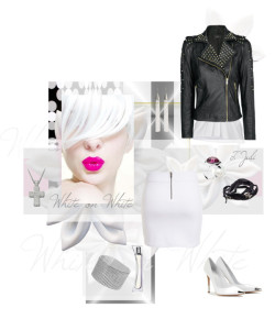 White on White by tjuli-interior featuring pendant jewelry ❤ liked on Polyvore