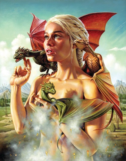 jesus-frankenstein:  Mother of Dragons by Jason Edmiston