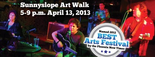 The Sunnyslope Art Walk takes place this Saturday, 5-9 pm along Central Avenue from Dunlap south to the canal. More than 100 local artists and live music.