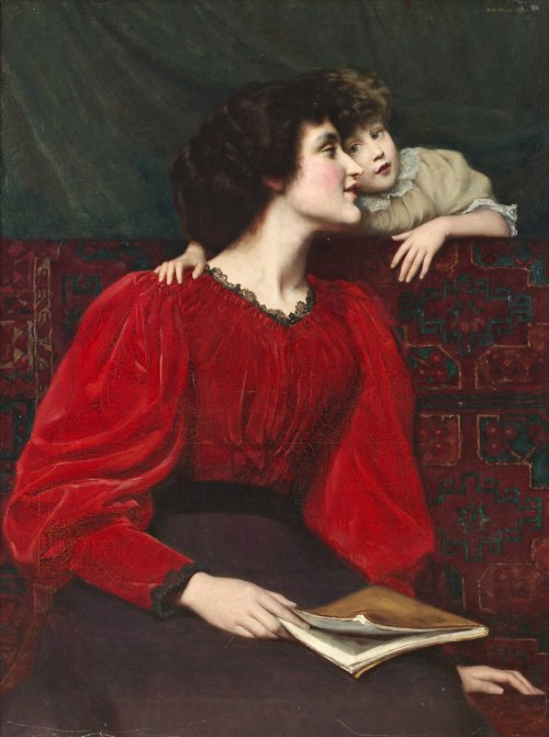 fleurdulys:  Mother and Child - William Mainwaring Palin  1899