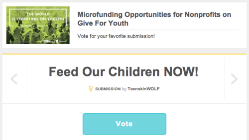 Please go and visit our project page and vote for us to help us get in the top 20 projects!Leave a comment on our project page to help get us on to the top of the most discussed projects!