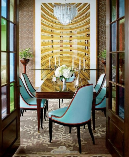 Chic Dining Room by Katie Ridder