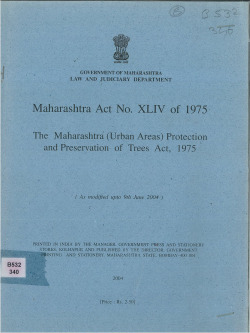 1975 maharashtra (urban areas) protection and preservation of trees act