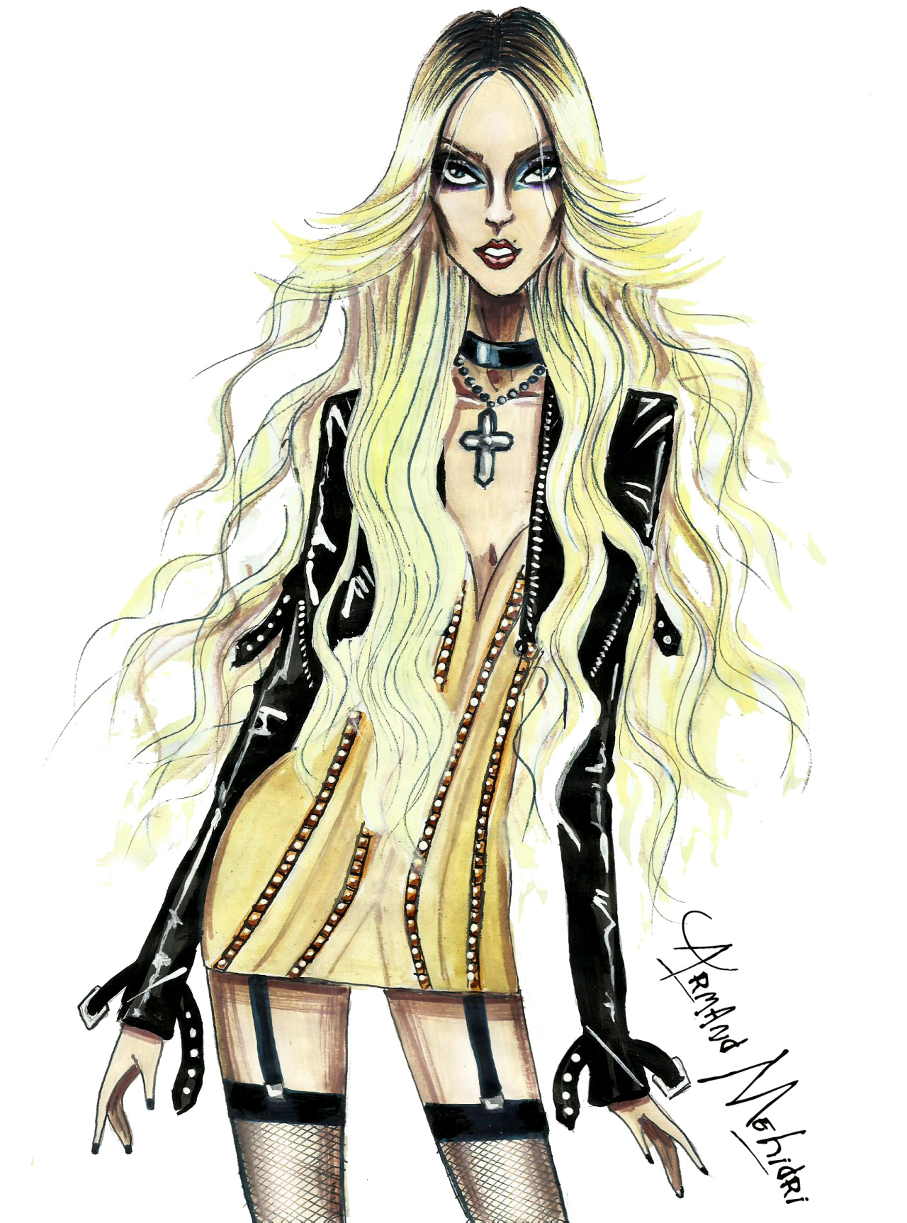 FASHION ILLUSTRATIONS by ARMAND MEHIDRI. — Taylor Momsen ... Taylor Momsen