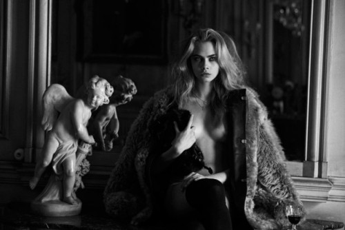 Cara Delevingne by Peter Lindbergh for Interview Magazine April 2013