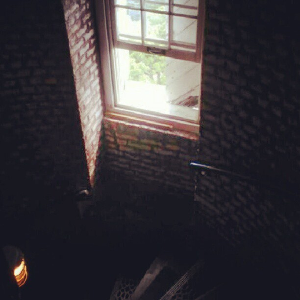 Creepy window in the lighthouse! #lighthouse #photooftheday