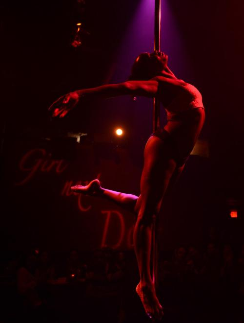 Girl Next Door - A Pole Dance Soirée 2013 PREMIERE TITANIC (by Phoenix Kazree Signature Move) - photo by ©Mike Quain http://www.quainphoto.com/ — at King King Hollywood.